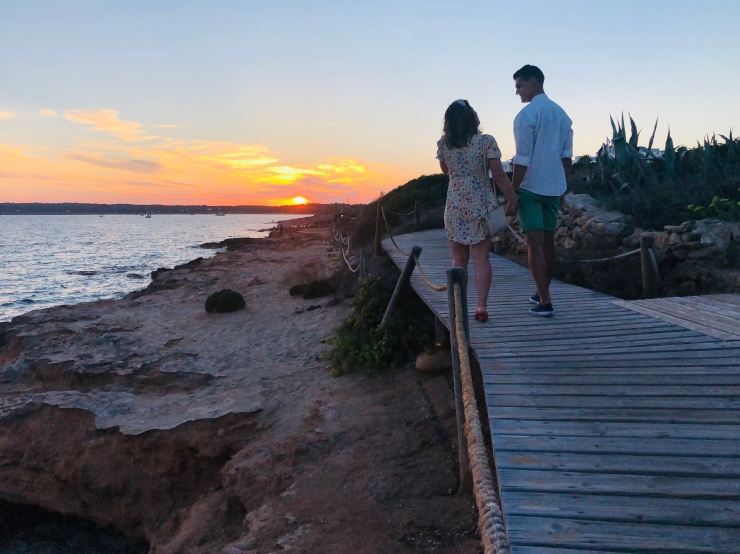 Atardecer Playa de Migjorn (Formentera)