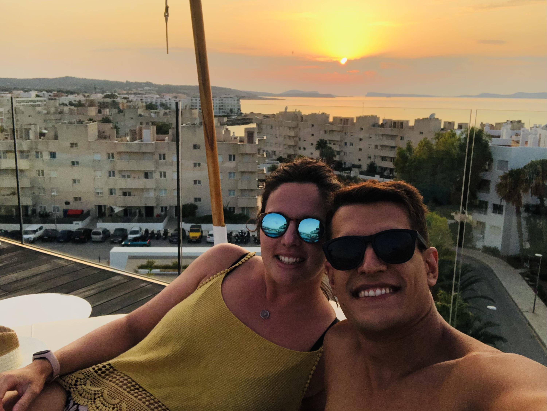 Atardecer azotea Amàre Beach Hotel Ibiza